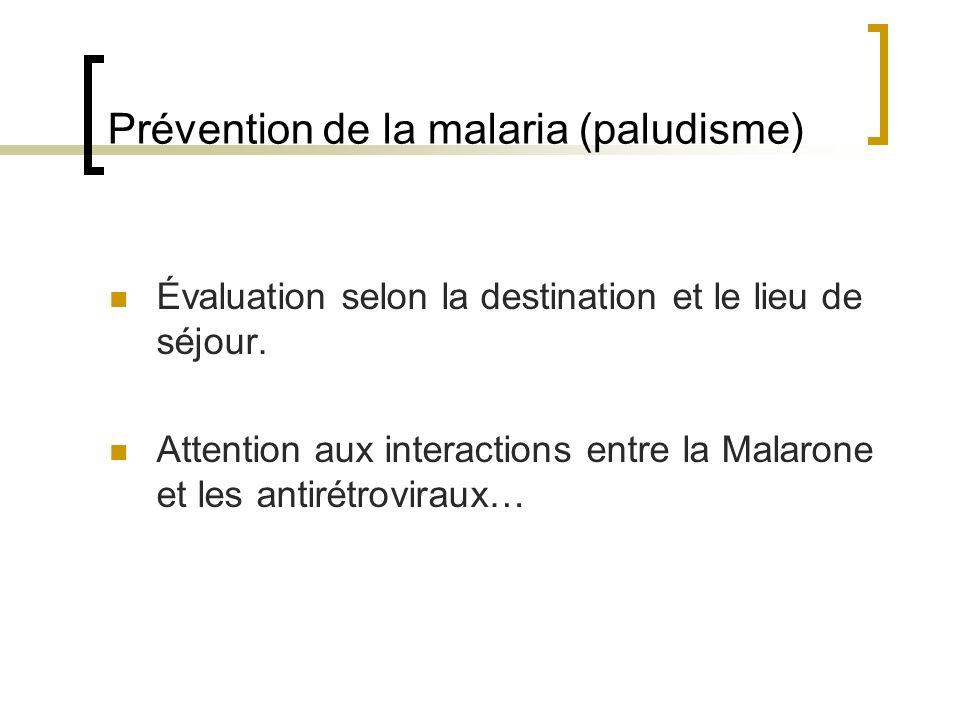 Prévention de la malaria (paludisme)