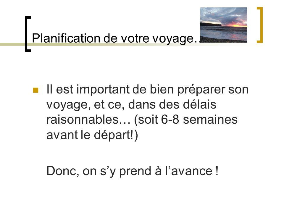 Planification de votre voyage…