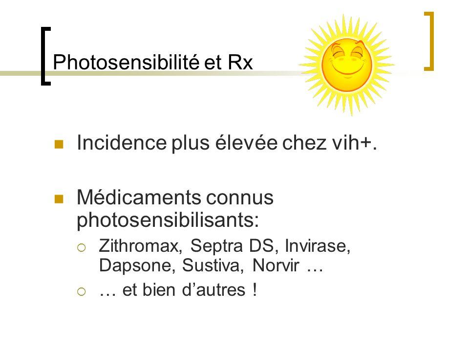 Photosensibilité et Rx