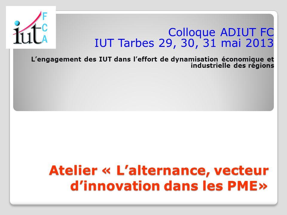Atelier « L'alternance, vecteur d'innovation dans les PME»