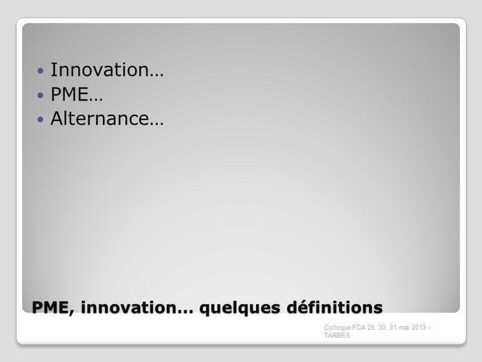 PME, innovation… quelques définitions