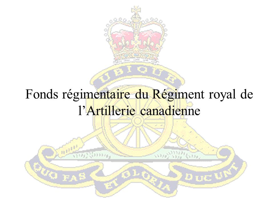 Fonds régimentaire du Régiment royal de l'Artillerie canadienne