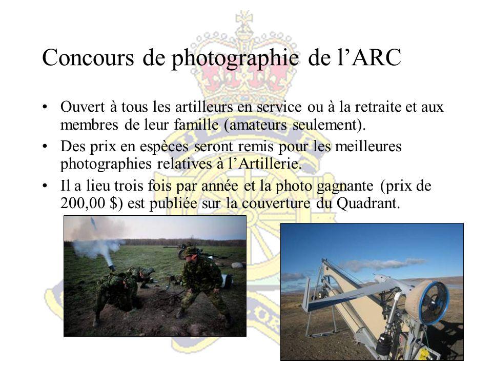 Concours de photographie de l'ARC