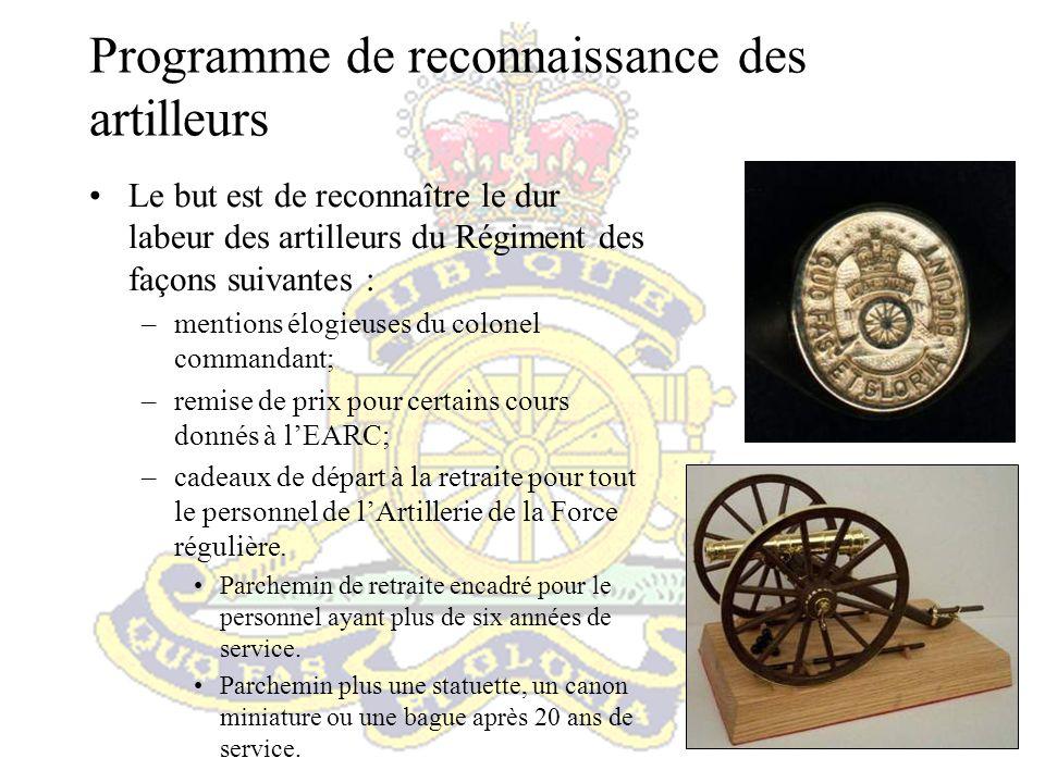 Programme de reconnaissance des artilleurs