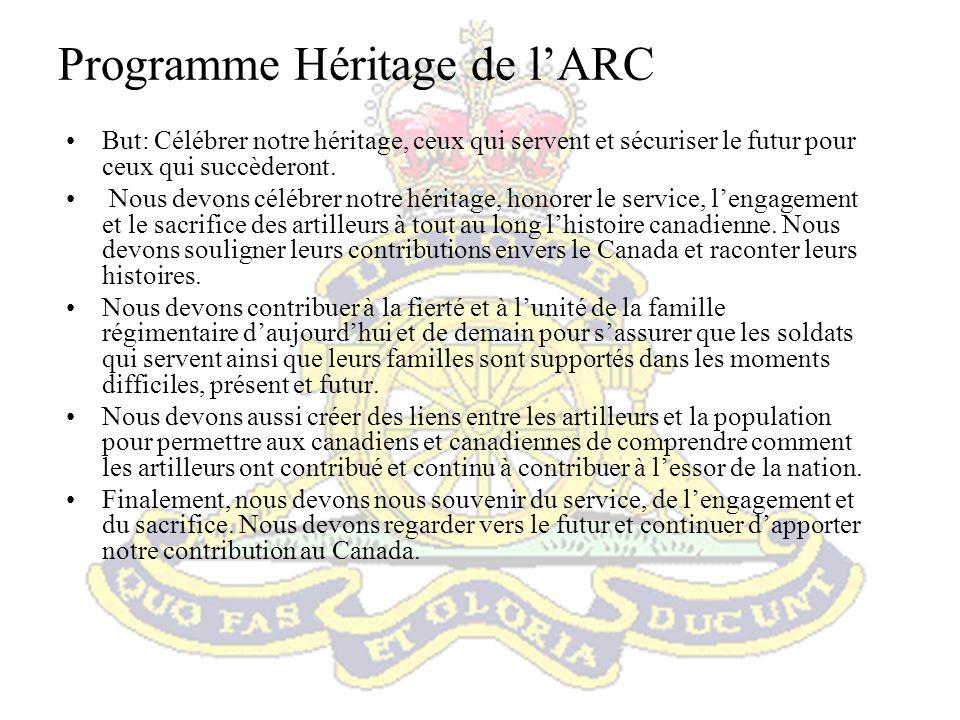 Programme Héritage de l'ARC