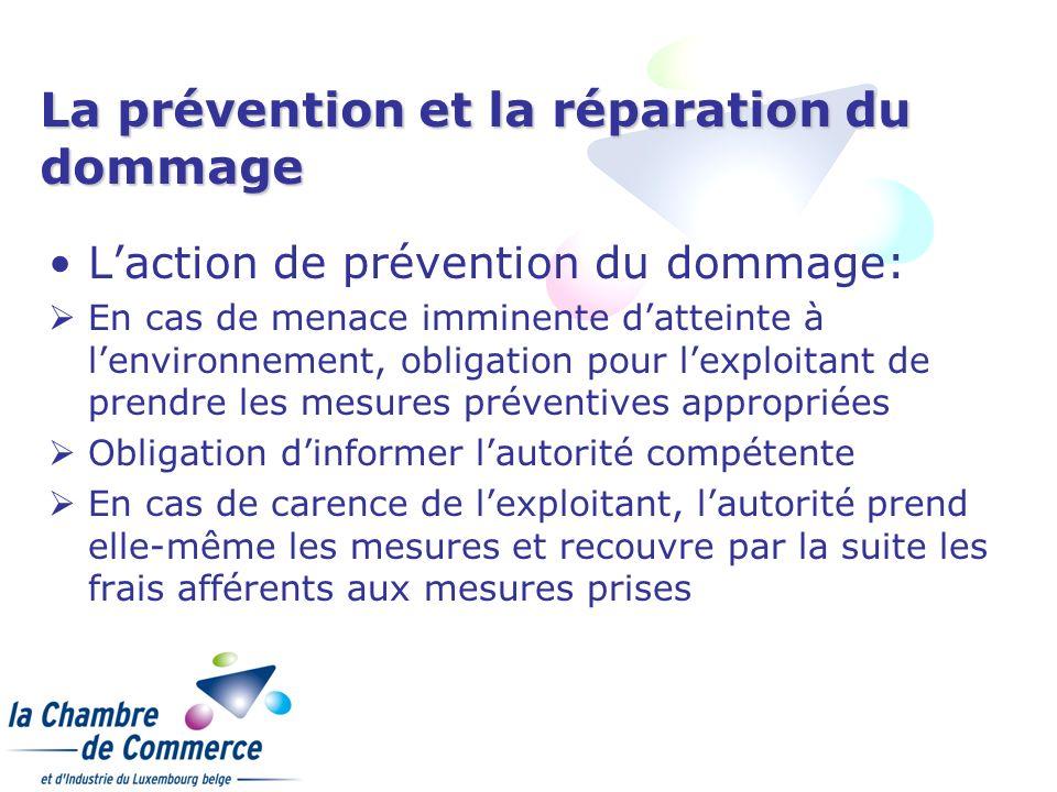 La prévention et la réparation du dommage