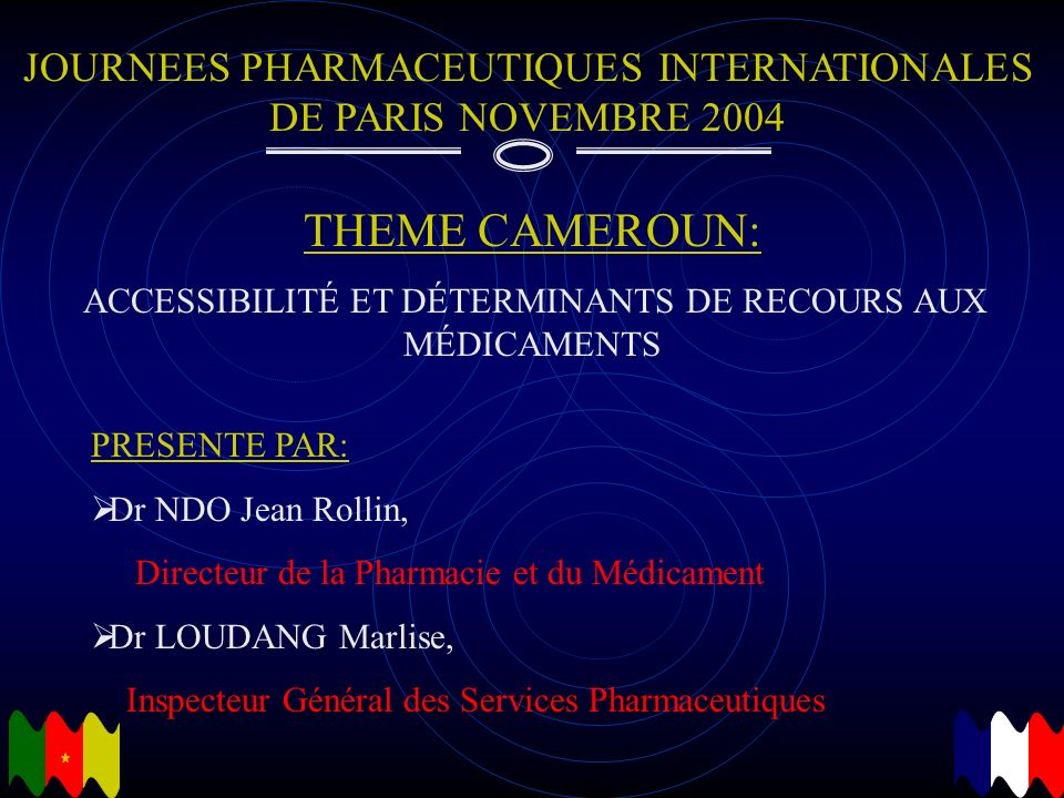 JOURNEES PHARMACEUTIQUES INTERNATIONALES DE PARIS NOVEMBRE 2004