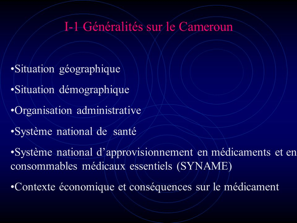 I-1 Généralités sur le Cameroun