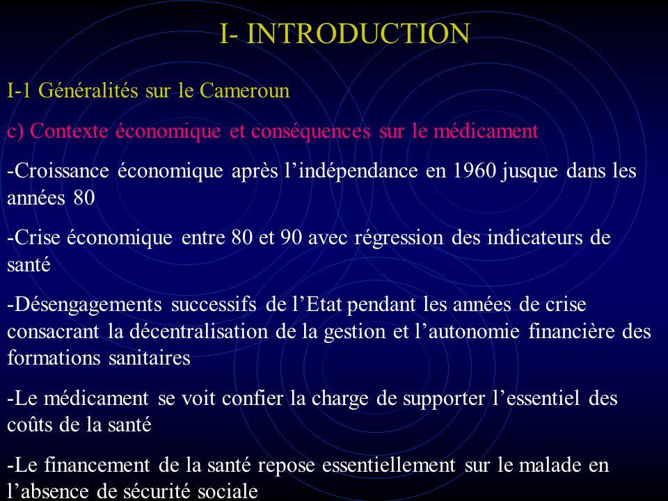 I- INTRODUCTION I-1 Généralités sur le Cameroun