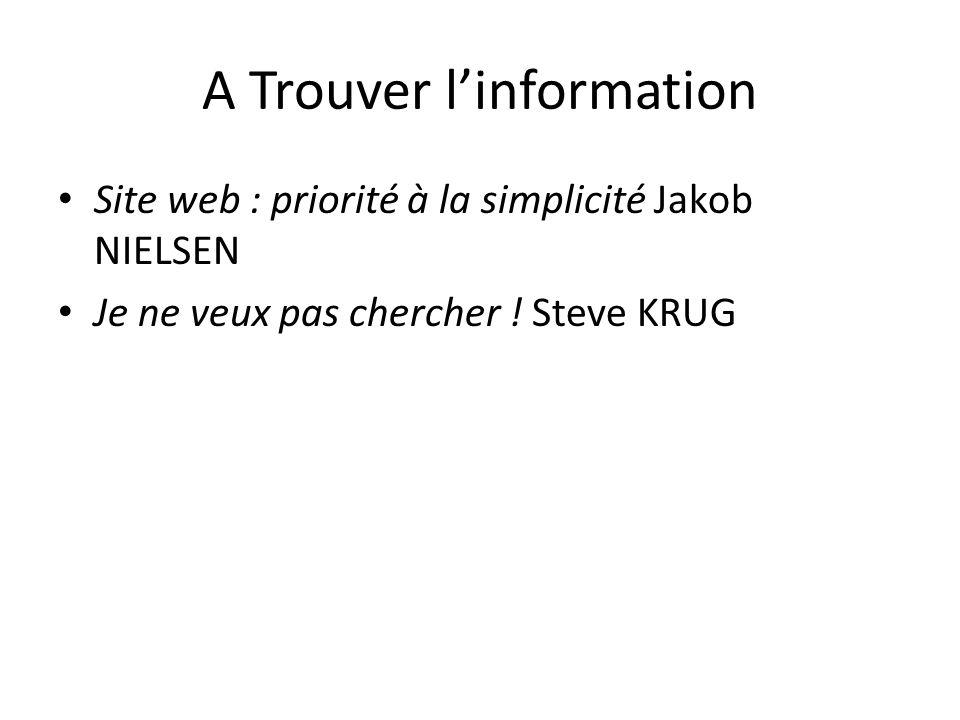 A Trouver l'information