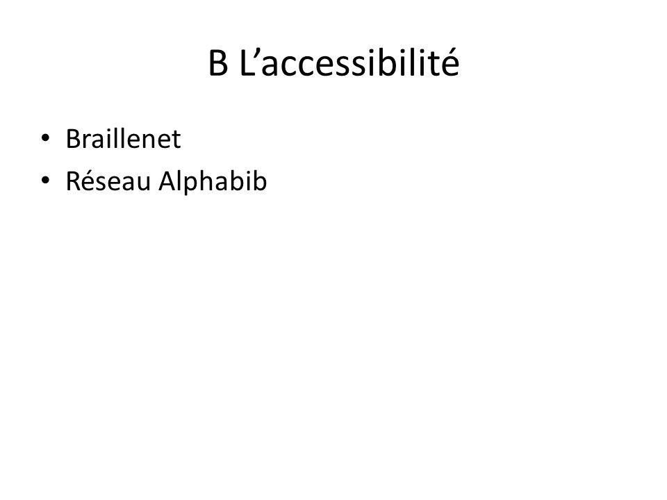 B L'accessibilité Braillenet Réseau Alphabib