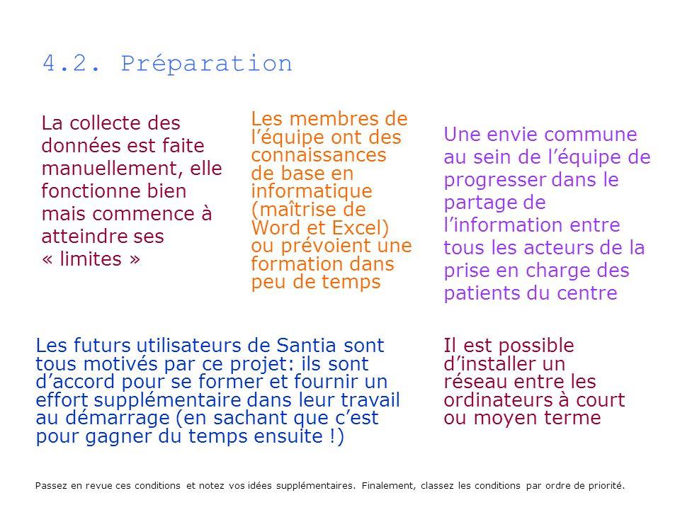 4.2. PréparationLa collecte des données est faite manuellement, elle fonctionne bien mais commence à atteindre ses « limites »
