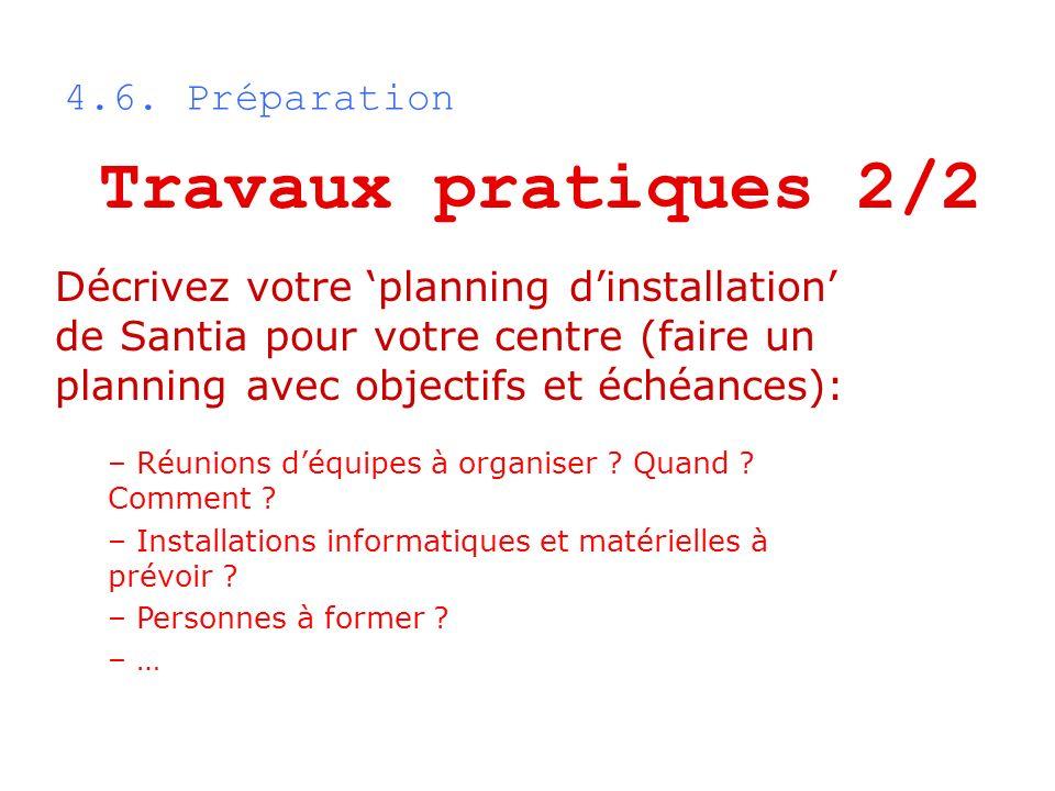 Travaux pratiques 2/2 4.6. Préparation