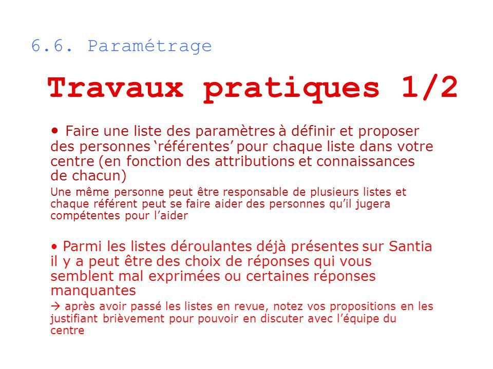 Travaux pratiques 1/2 6.6. Paramétrage