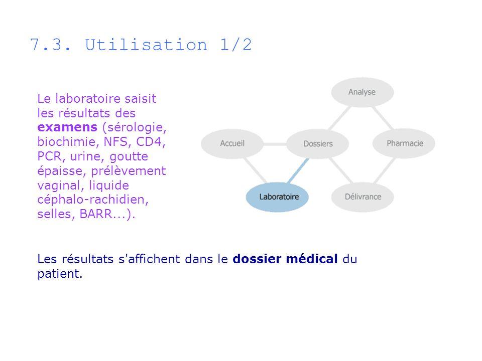 7.3. Utilisation 1/2