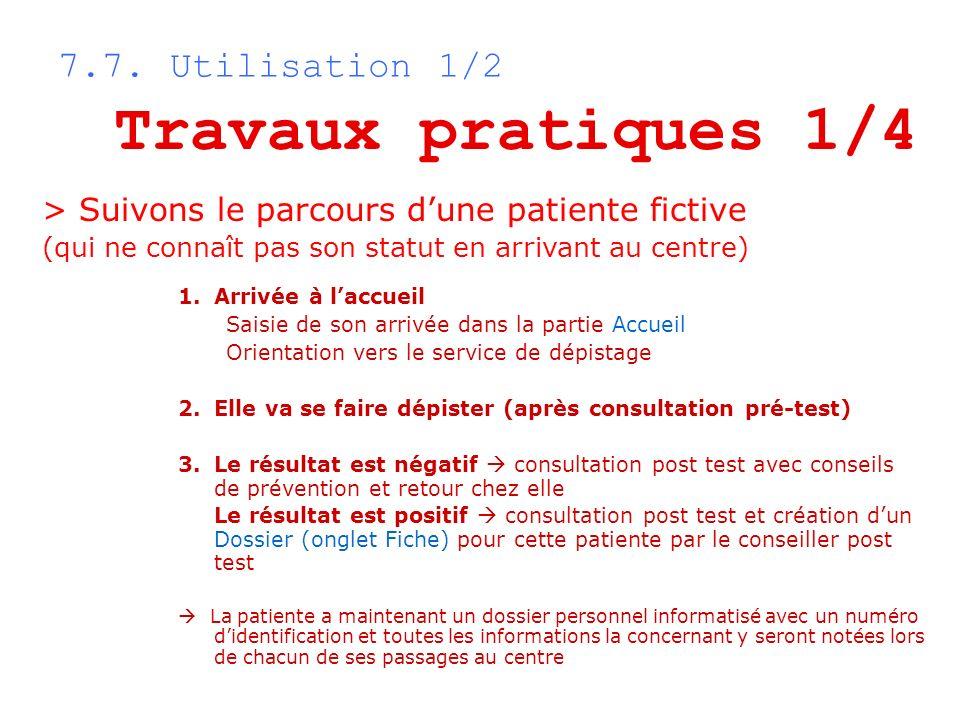 Travaux pratiques 1/4 7.7. Utilisation 1/2