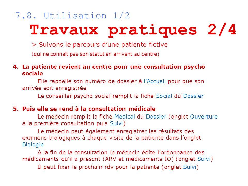 Travaux pratiques 2/4 7.8. Utilisation 1/2