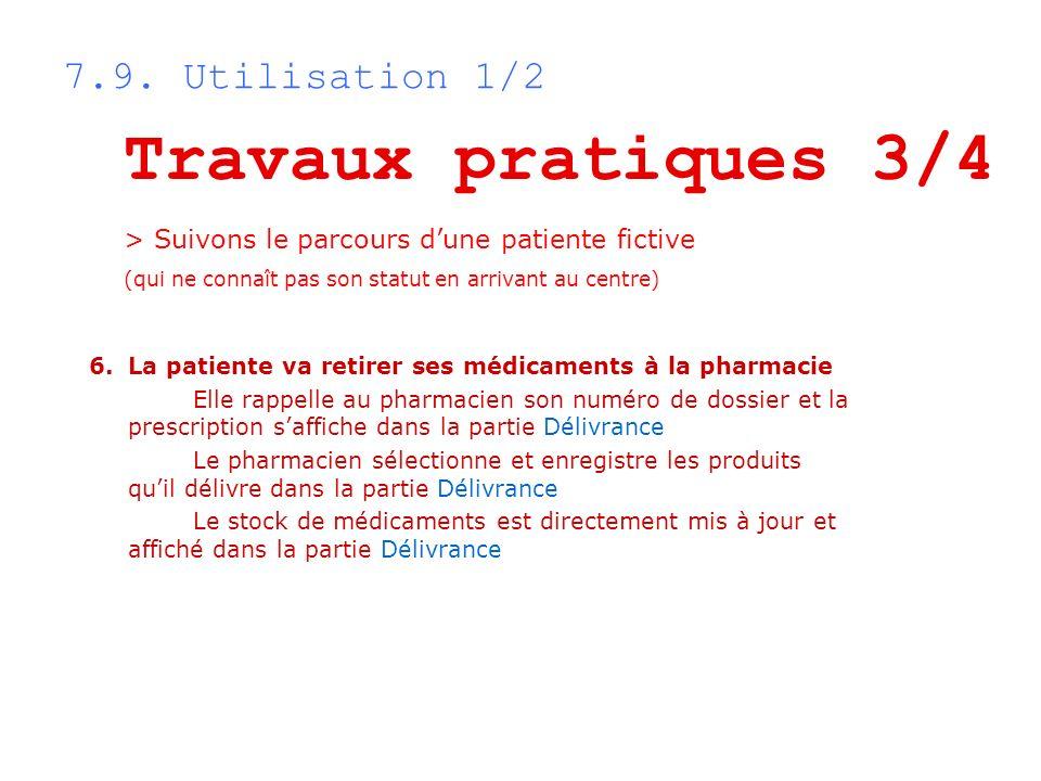 Travaux pratiques 3/4 7.9. Utilisation 1/2