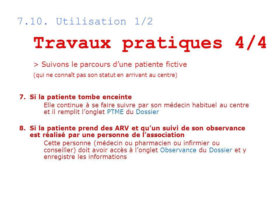 Travaux pratiques 4/4 7.10. Utilisation 1/2