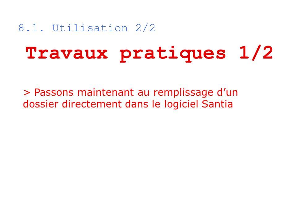 Travaux pratiques 1/2 8.1. Utilisation 2/2