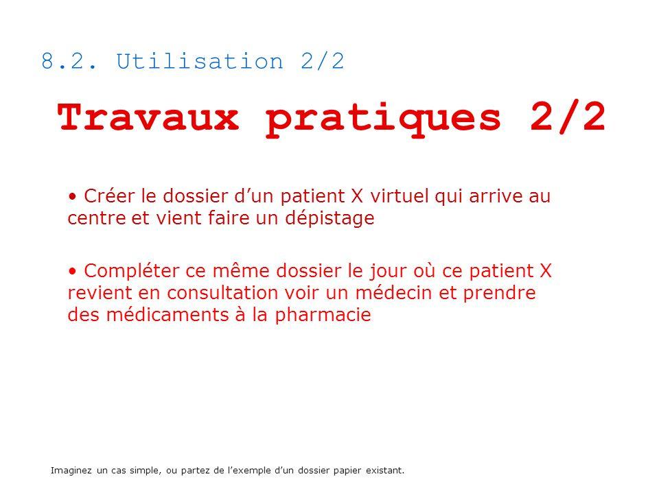 Travaux pratiques 2/2 8.2. Utilisation 2/2