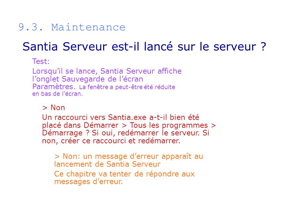 Santia Serveur est-il lancé sur le serveur