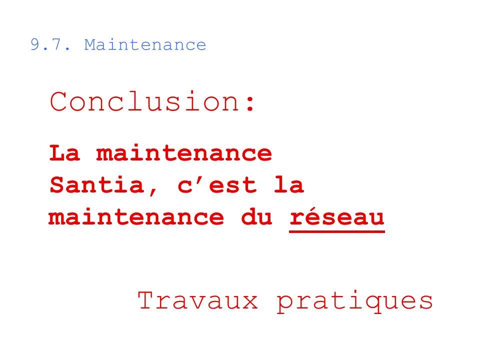 Conclusion: Travaux pratiques