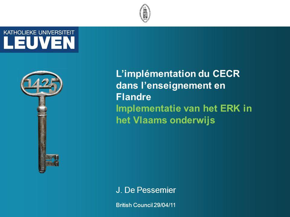 L'implémentation du CECR dans l'enseignement en Flandre