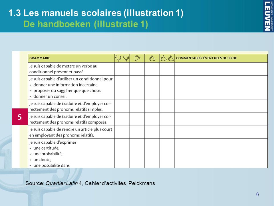 1.3 Les manuels scolaires (illustration 1)