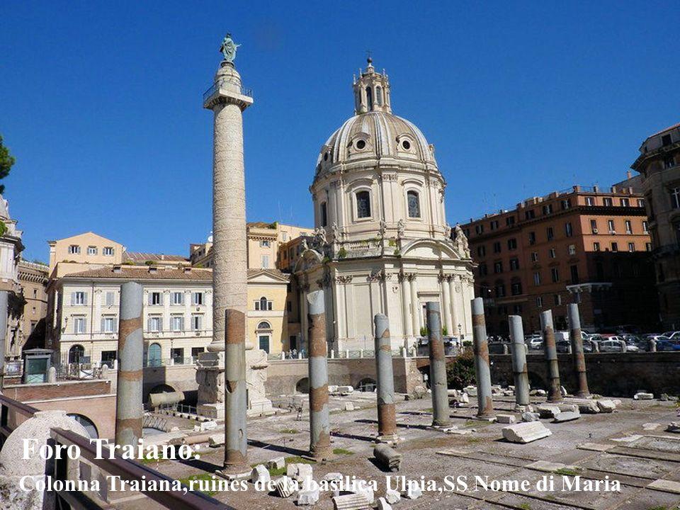 Foro Traiano: Colonna Traiana,ruines de la basilica Ulpia,SS Nome di Maria