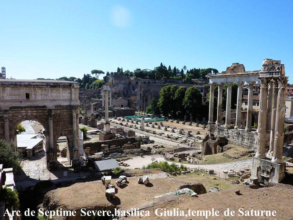 Arc de Septime Severe,basilica Giulia,temple de Saturne