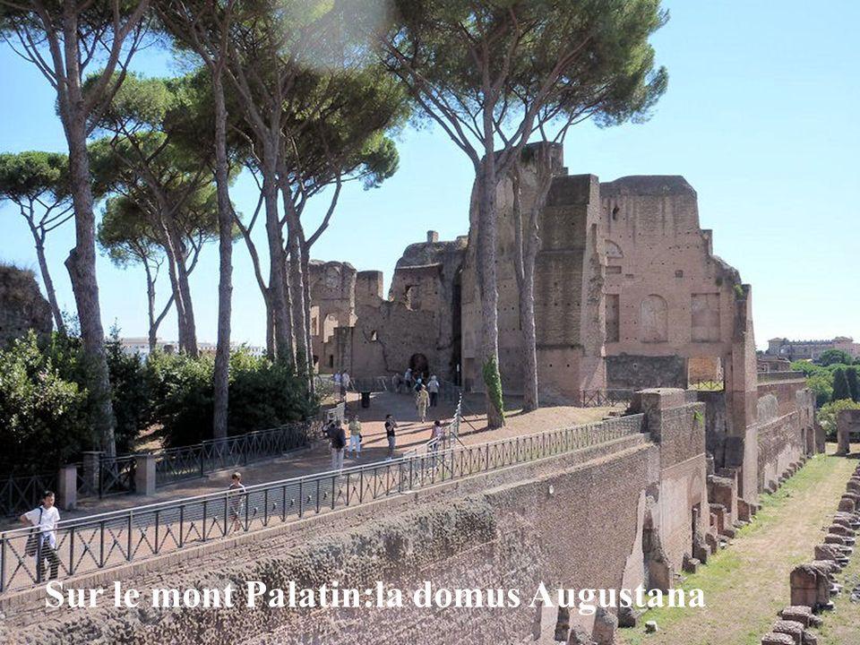 Sur le mont Palatin:la domus Augustana
