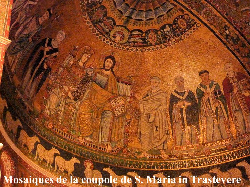 Mosaiques de la coupole de S. Maria in Trastevere