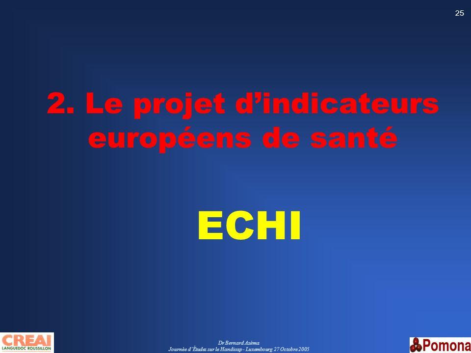 2. Le projet d'indicateurs européens de santé ECHI