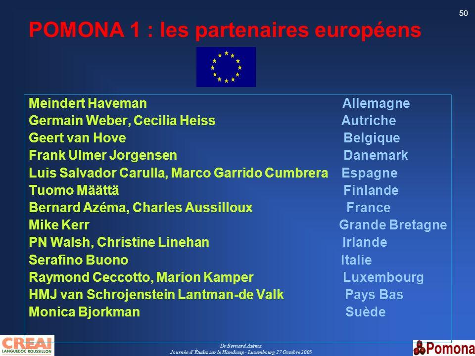 POMONA 1 : les partenaires européens