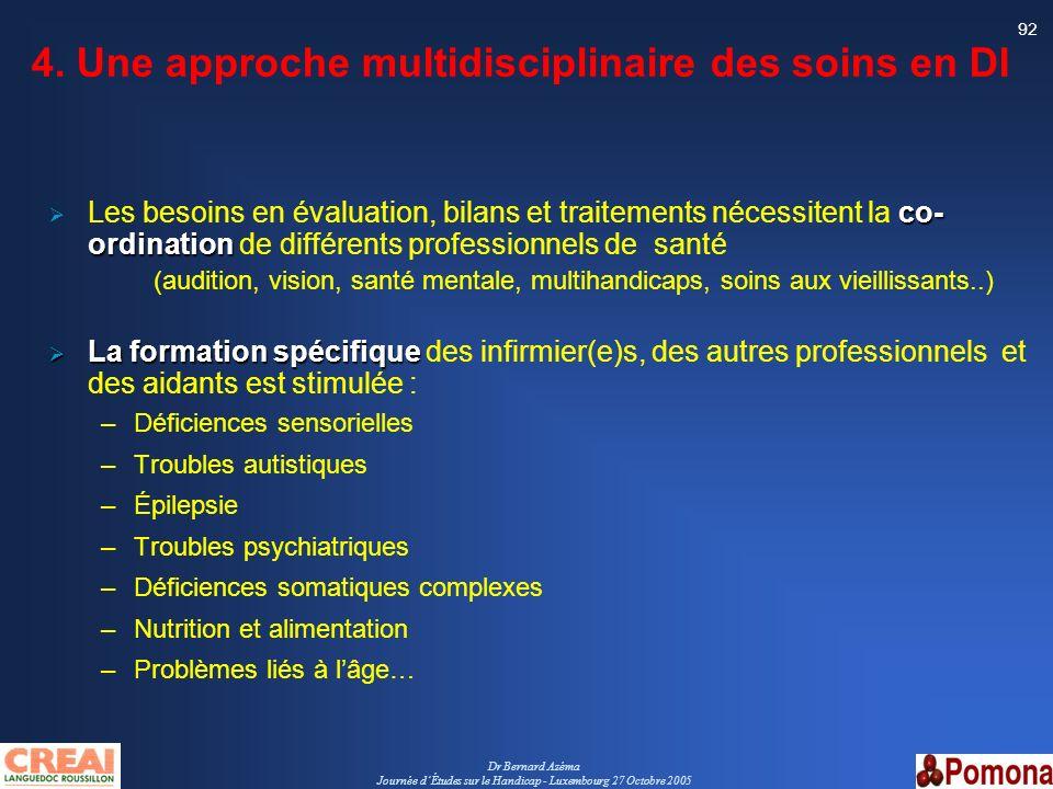 4. Une approche multidisciplinaire des soins en DI