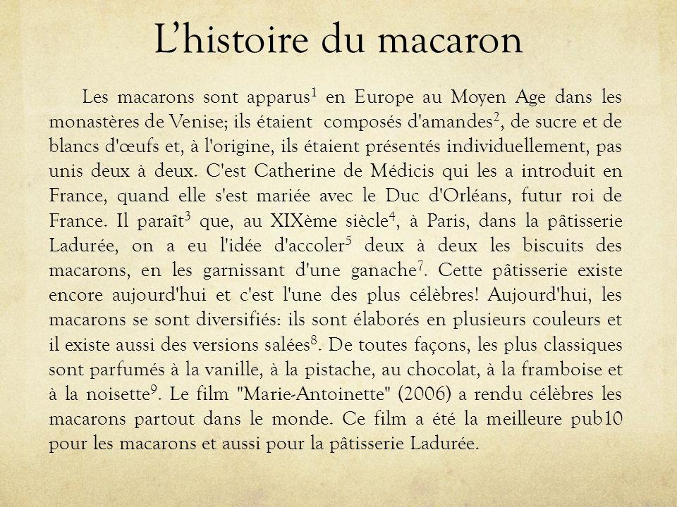 L'histoire du macaron