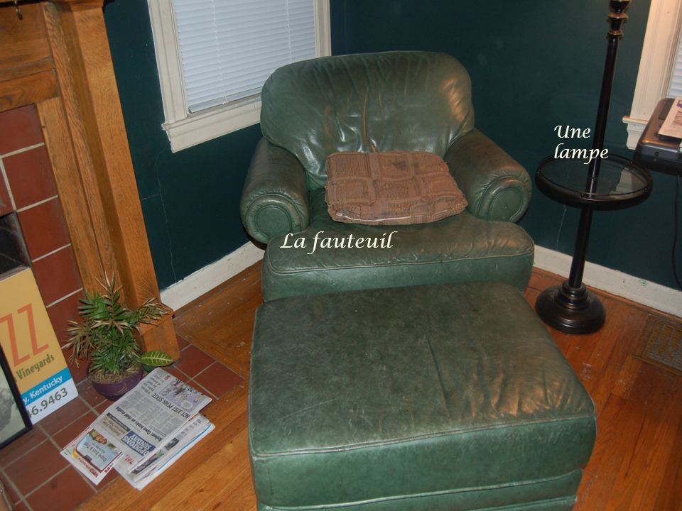 Une lampe La fauteuil