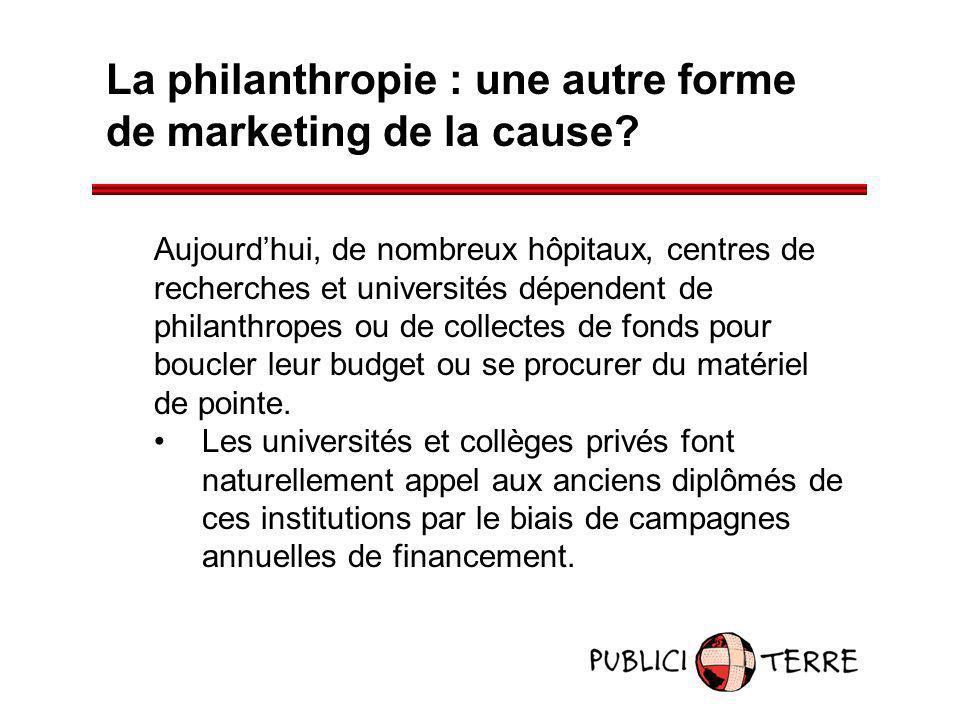 La philanthropie : une autre forme de marketing de la cause