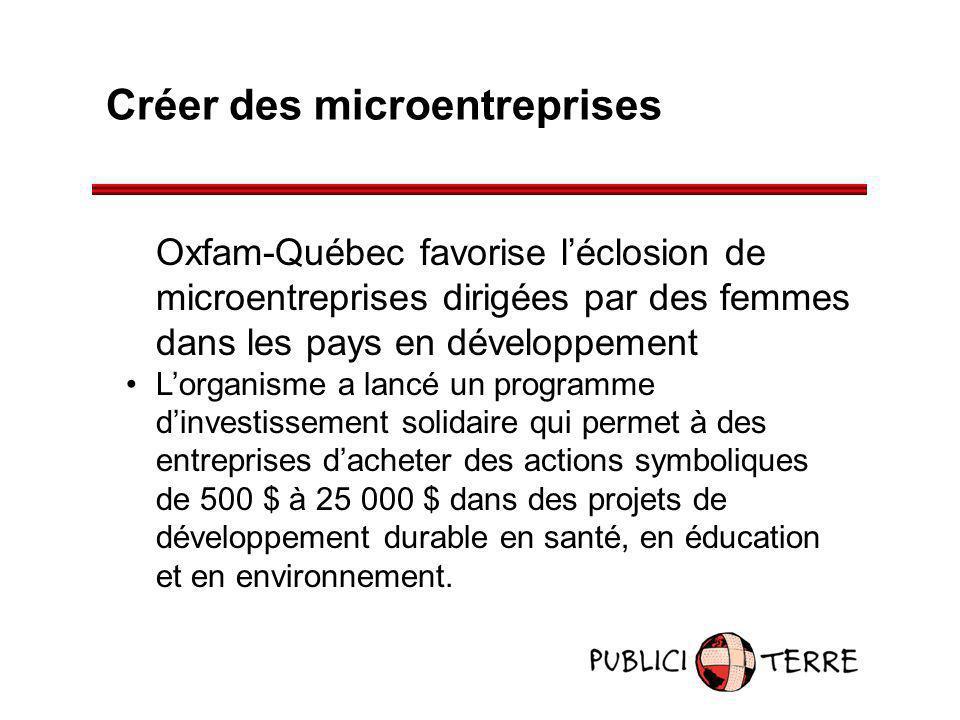 Créer des microentreprises