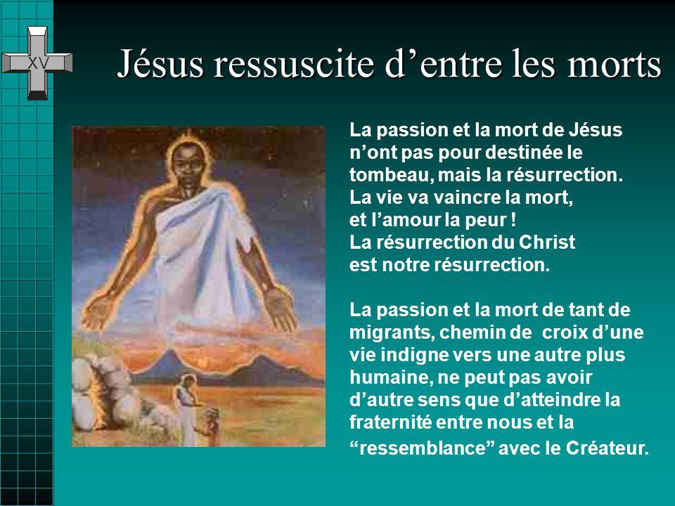 Jésus ressuscite d'entre les morts