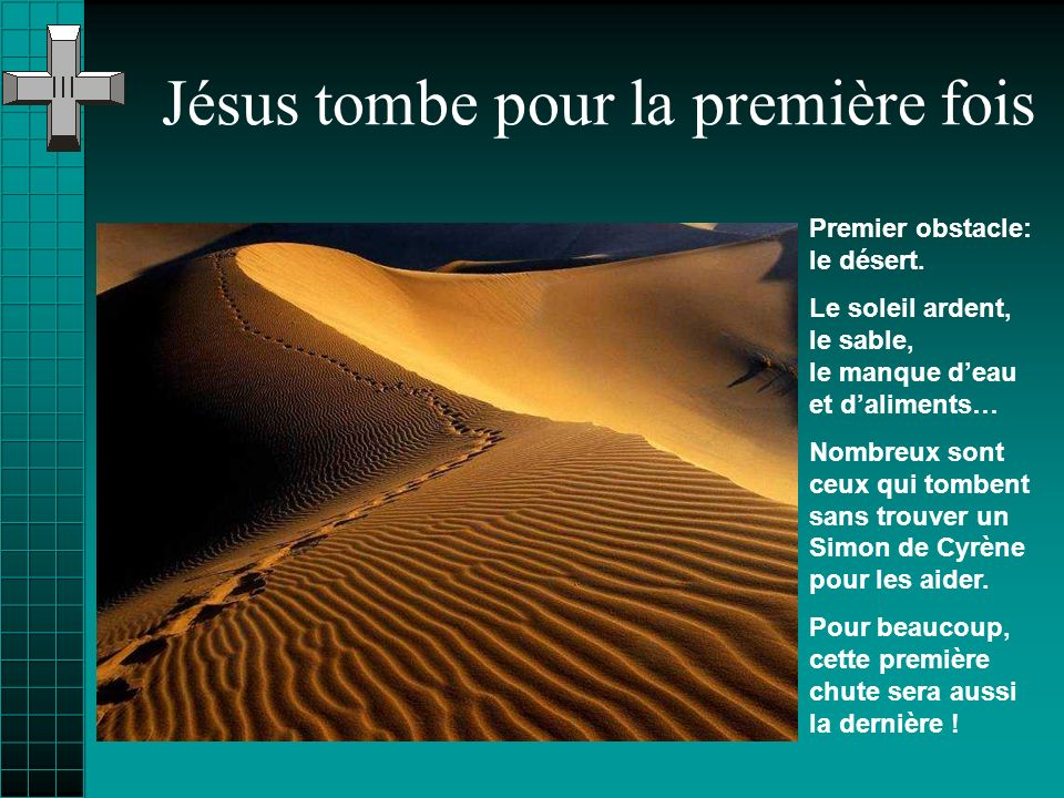 Jésus tombe pour la première fois