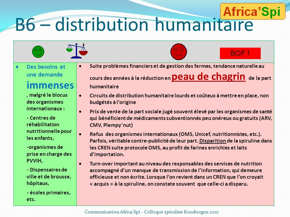 B6 – distribution humanitaire