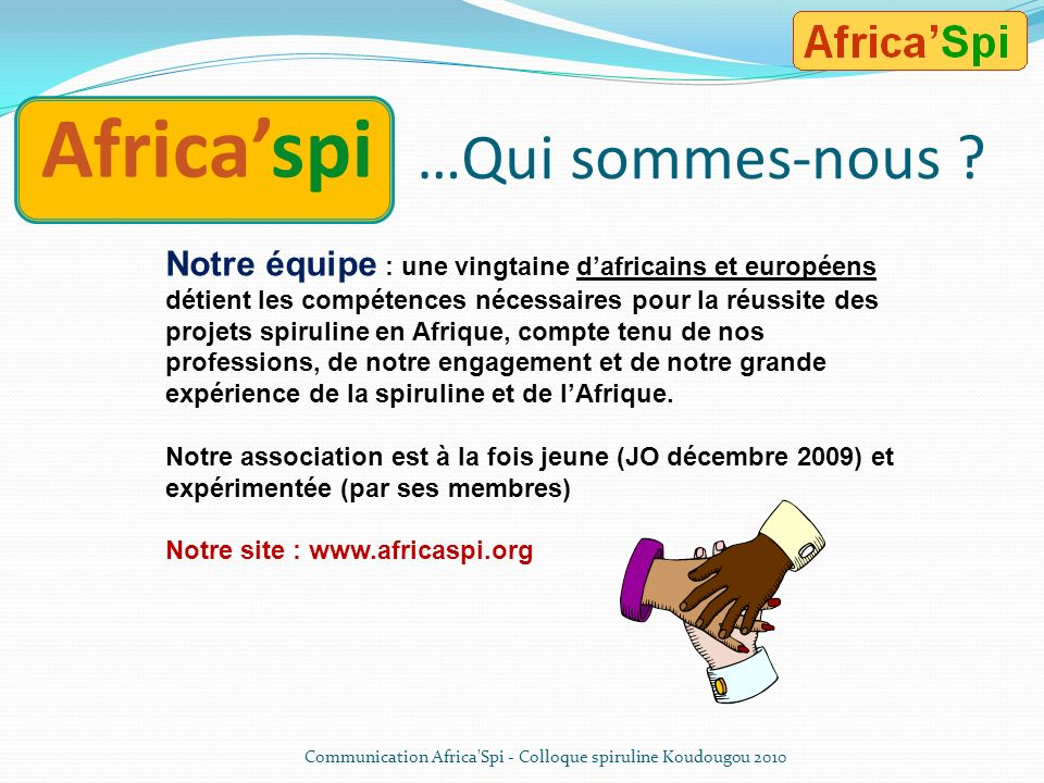 Africa'spi …Qui sommes-nous