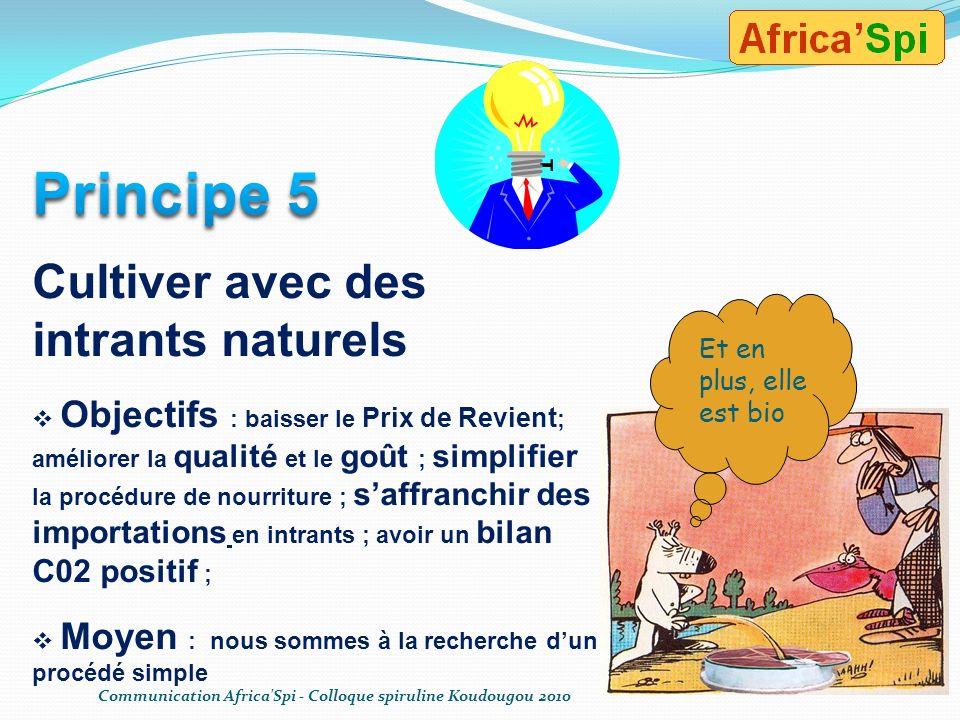Principe 5 Cultiver avec des intrants naturels
