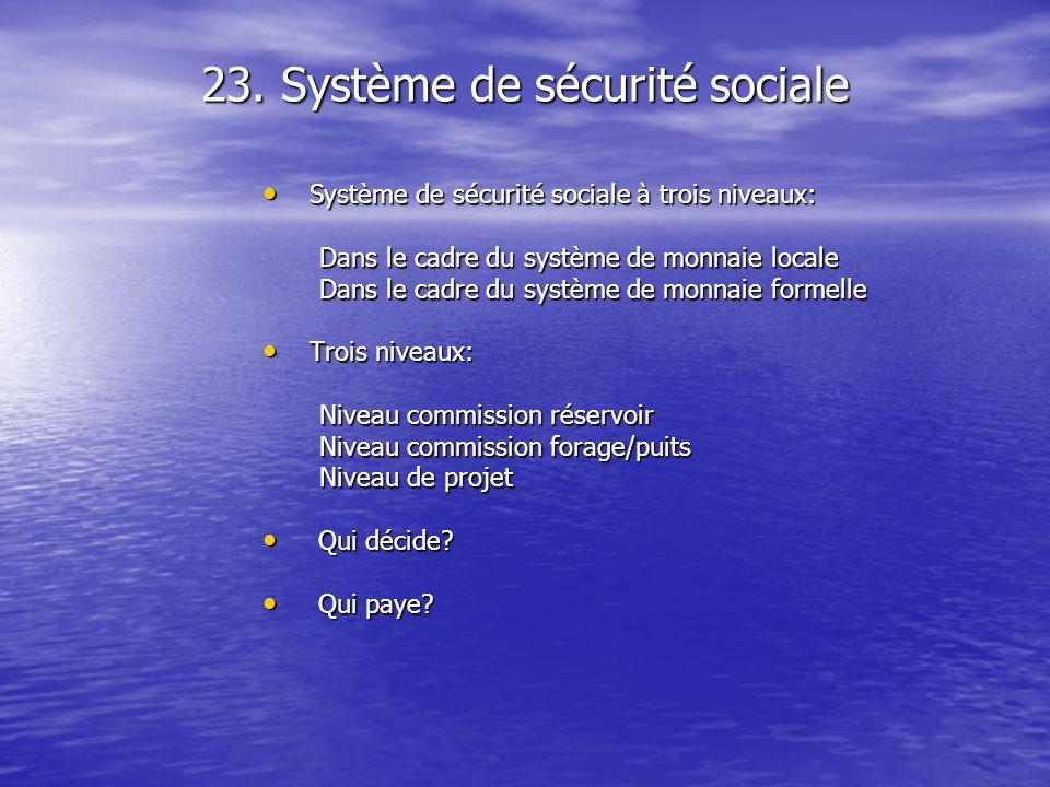 23. Système de sécurité sociale