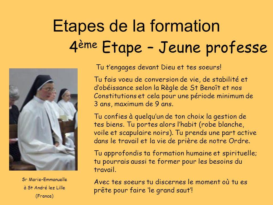 4ème Etape – Jeune professe