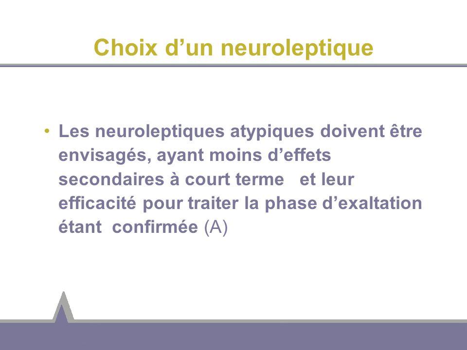 Choix d'un neuroleptique