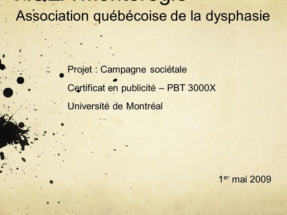 AQEA Montérégie Association québécoise de la dysphasie