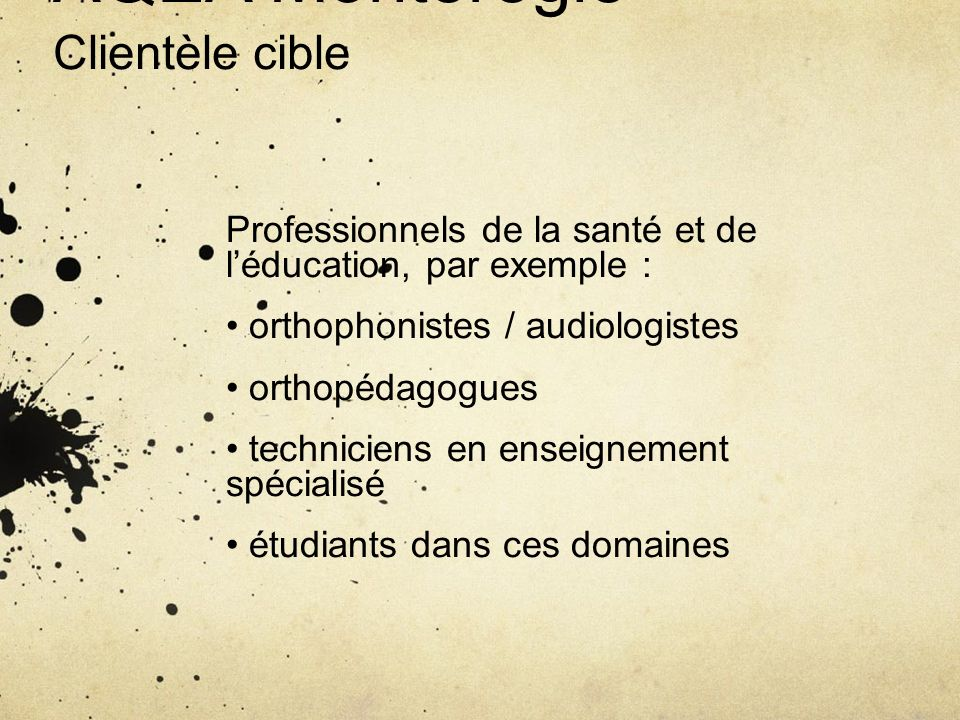AQEA Montérégie Clientèle cible